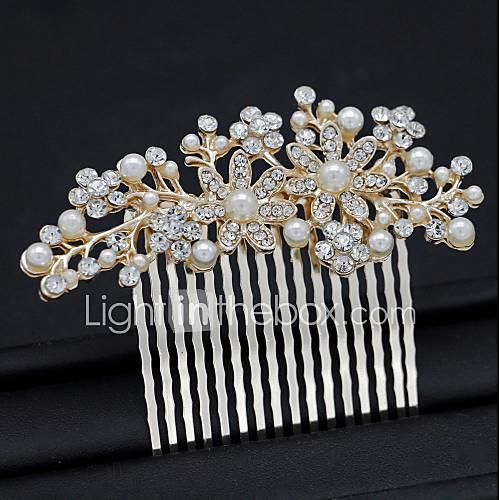 Women's Simple Hair Comb Floral Style