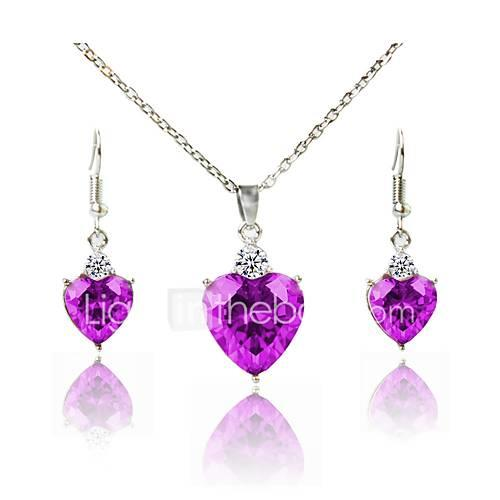 Women's Jewelry Set Bridal Jewelry Sets Silver Plated Simple Fashion Lovely Wedding Daily 1 Necklace Earrings Costume Jewelry