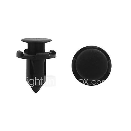 Image of 100pcs 9mm Dia Black Plastic Door Trim Panel Hood Fastener Mat Rivet for Cars