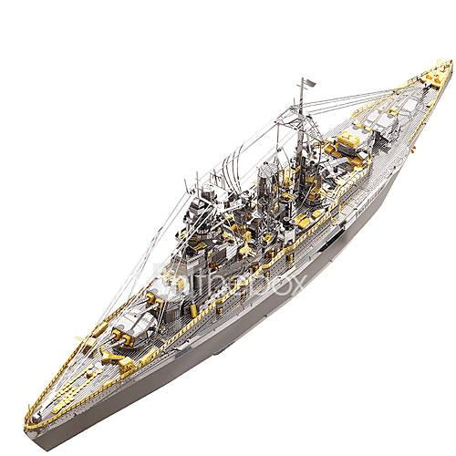 3D Puzzle Metal Puzzle Military Battleship Stainless Steel Metal 1pcs Boat Kid's Adults' Gift