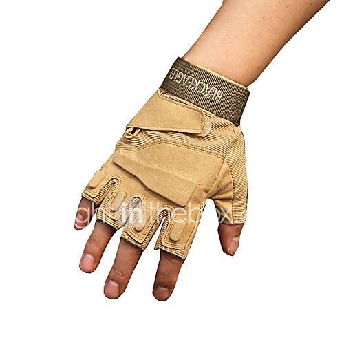 outdoor black hawk tactical gloves half finger gloves non-slip wear