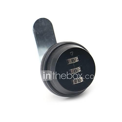ned w-103 mechanical password lock 3 password dial lock for mailbox/wardrobe/lockers/wooden cabinet