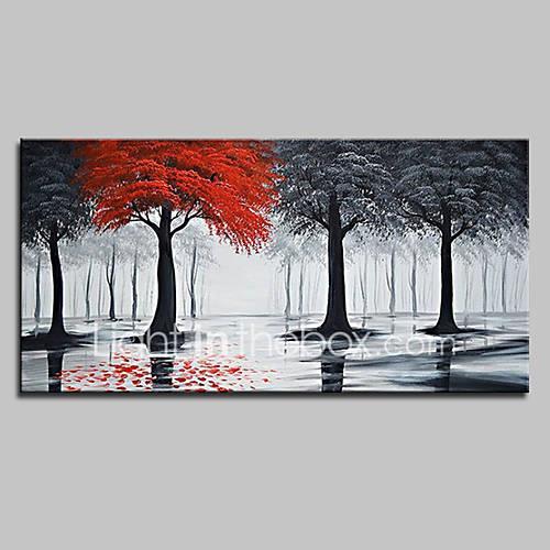 Oil Painting Hand Painted - Landscape Pop Art Modern Canvas