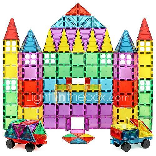 Magnetic Building Blocks / Tiles 60pcs pcs Transparent Body Geometric Pattern Toy Toy Gift