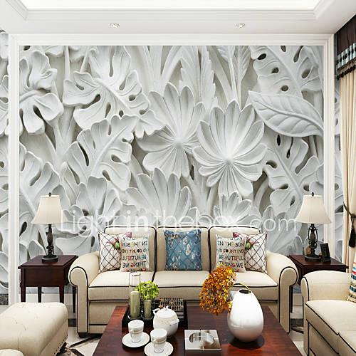 Trees/Leaves Art Deco 3D Home Decoration Classic Modern Wall Covering, Canvas Material Adhesive required Mural, Room Wallcovering