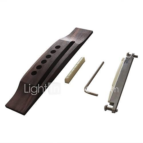 Professional Guitar Accessory Bridge Acoustic Guitar Wooden Zinc Alloy Plastic Musical Instrument Accessories 163.21.2cm
