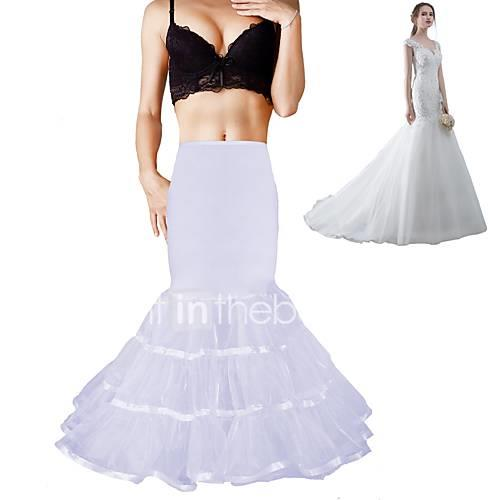 Wedding Formal Evening Slips Polyester Spandex Chinlon Organza Taffeta Tulle Floor-length Tea-Length Shaping Slips Voiles  Sheers with