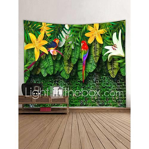 Garden Theme Animals Wall Decor 100% Polyester Contemporary Modern Wall Art, Wall Tapestries Decoration