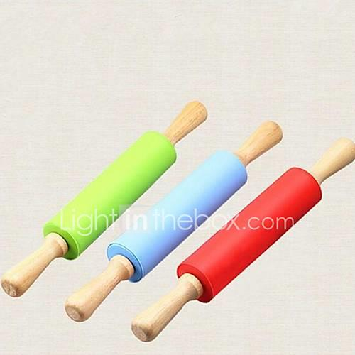 Kitchen Tools Silicone / Wood Eco-friendly / Tools Rolling Pin Cooking Utensils 1pc