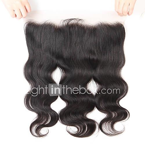 Guanyuwigs Brazilian Hair 4x13 Closure Wavy Free Part / Middle Part / 3 Part Swiss Lace Human Hair Women's With Baby Hair / Soft / Silky Party Evening / Dailywear / Daily Wear