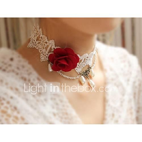 Choker Necklace - Flower Sweet, Elegant Rainbow 38 cm Necklace For Wedding, Evening Party
