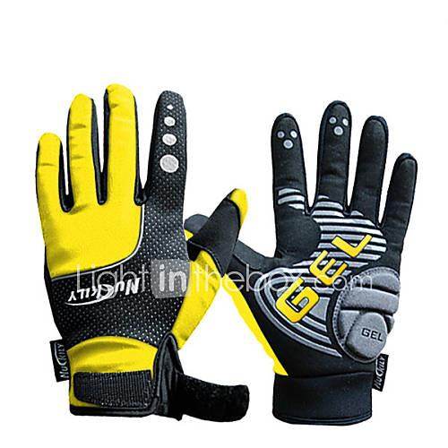 Nuckily Sports Gloves Bike Gloves / Cycling Gloves Keep Warm Waterproof Windproof Wearproof Anti-skidding Protective Shockproof