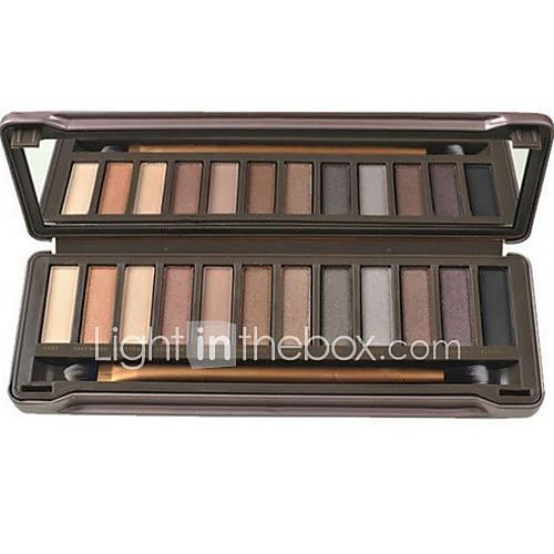 12 colors Eye Mirror Combination / Dry / Normal Eyeshadow Palette Powder Daily Makeup / Smokey Makeup