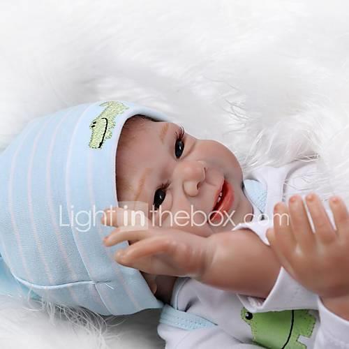 NPKCOLLECTION Reborn Doll Baby Girl 20 inch Silicone Kid's Unisex Gift