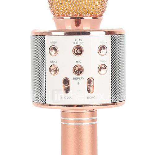 WS858 Wireless / Bluetooth Microphone Other Dynamic Microphone Handheld Microphone / Fashion For Bar / Karaoke Microphone