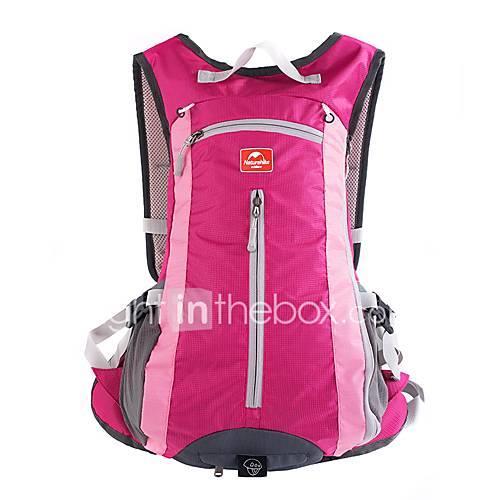 15L Daypack - Lightweight, Rain-Proof, Breathability Hiking, Camping, Running Nylon Fuchsia, Sky Blue, Dark Navy