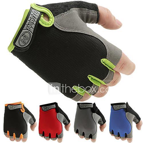 Exercise Gloves for Exercise  Fitness / Bike / Cycling / Gym Antiskid / Slim / Half Finger Lycra / Net One Pair Red / Blue / Pink