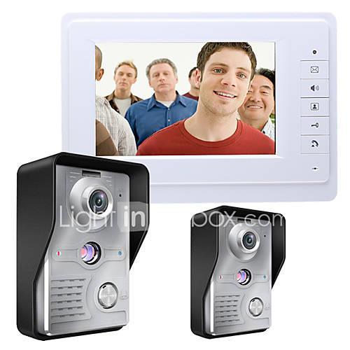 MOUNTAINONE SY819MKW21 7 Inch Video Door Phone 7 inch Hands-free 700 TV Line One to One video doorphone