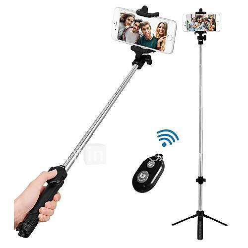 VORMOR Selfie Stick Bluetooth Extendable Max Length 77 cm For Android / Universal / iOS Android / iOS
