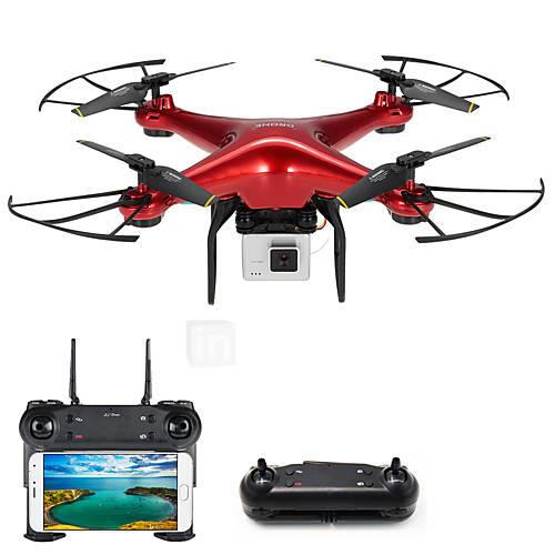 RC Drone DM106S BNF 4CH 6 Axis 2.4G With HD Camera 0.3MP 480P RC Quadcopter One Key To Auto-Return / Headless Mode / Access Real-Time