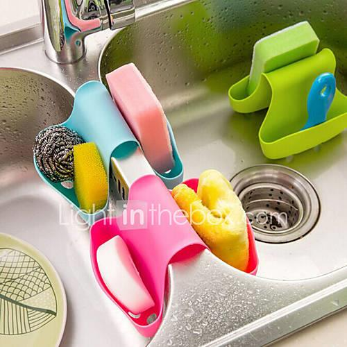 Kitchen Cleaning Supplies Silicon Bucket Storage / Multi-functional / Creative Kitchen Gadget 1pc