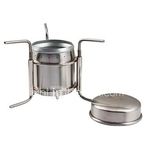 Camping Stove Outdoor Includes Stand / Mountaineering / Travel Outdoor for Hunting / Fishing / Hiking Silver