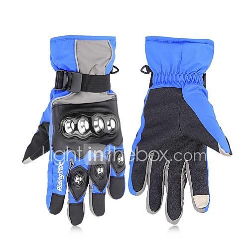 RidingTribe Full Finger Unisex Motorcycle Gloves Stainless Steel / Microfiber / Cotton Touch Screen / Waterproof / Keep Warm