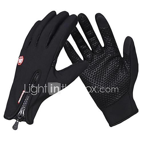 Sports Gloves Sports Gloves / Winter Gloves / Bike Gloves / Cycling Gloves Windproof / Waterproof / Keep Warm Touch Screen Gloves 100% Polyester / Poly urethane / Silicone Gel Road Cycling / Outdoor