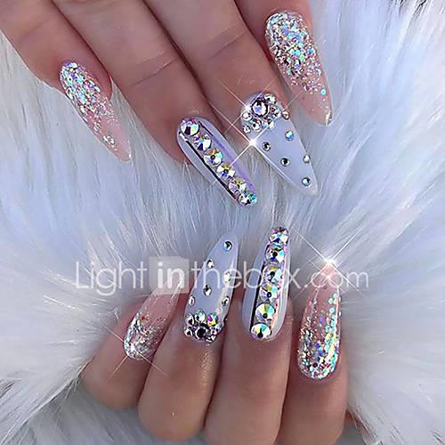 Image of 100% Acrylic Nail Jewelry For Finger Nail Finger Toe Decoration nail art Manicure Pedicure Abstract / Elegant Luxurious / Wedding