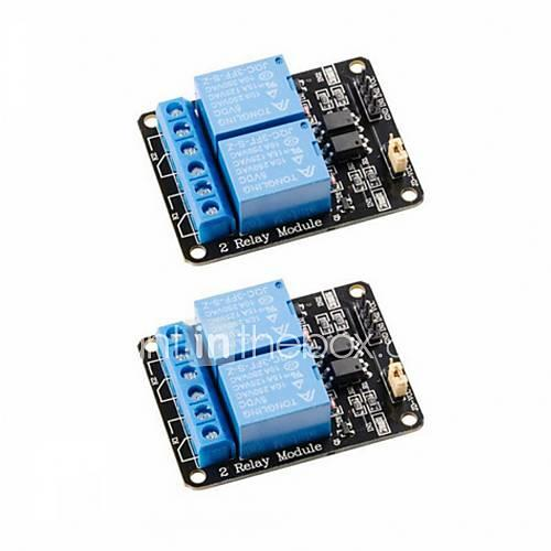 2Pcs 2 Channel DC 5V Relay Module with Optocoupler Low Level Trigger Expansion Board for Arduino UNO R3 MEGA 2560