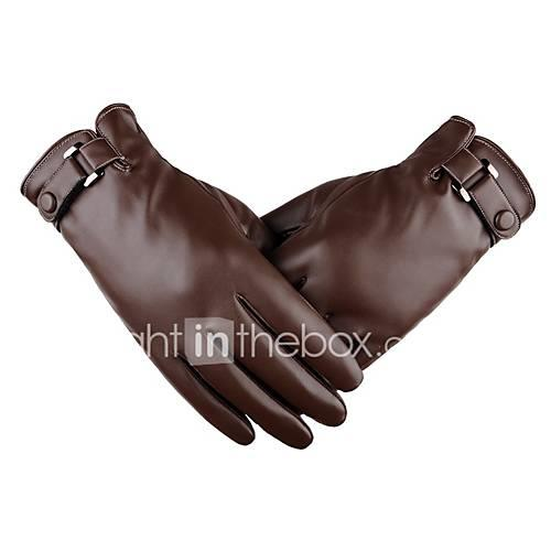 Full Finger Men's Motorcycle Gloves Leather Touch Screen / Keep Warm