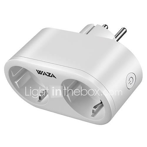 WAZA Smart Plug(UK) Tuya Smart Mini Outlet Compatible with Amazon Alexa and Google Assistant, Wifi Enabled Remote Control Smart Socket with Timer Function, No Hub Required indicator 100-240 V