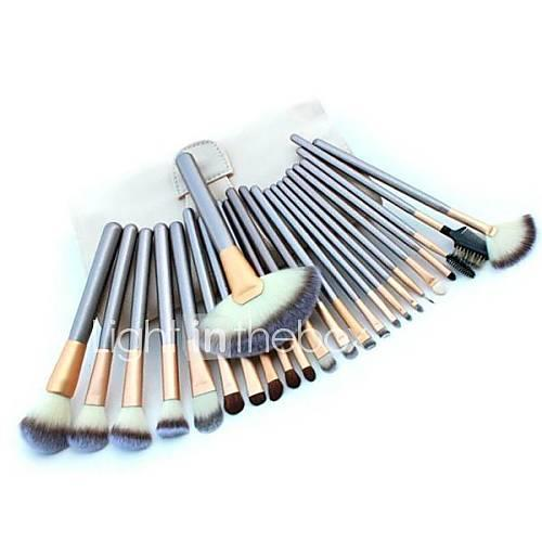 YZIMENG 24pcs White Makeup Brushes Set Professional Blush/Eyeshadow/Lip/Eyebrow/Concealer/Powder Full Coverage Synthetic Hair Make Up for Face