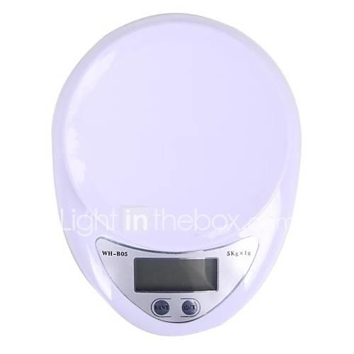 MEGOODO Digital Kitchen Scale (5kg Max/1g Resolution)