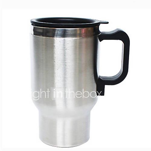 Image of 0.5L Stainless steel Car Electric Kettle Portable/Automatic power-off/automatic temperature recovery suitable for car truck homes