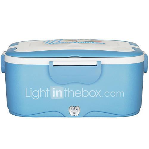 Image of 1.5L Electric Rice Cooker Car Heat Insulation Lunch Box Charging Hot Multi Food Warmer Box for Truck Car