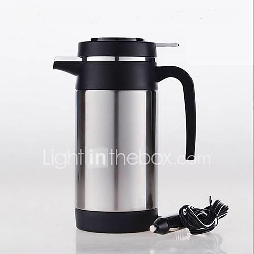 Image of 1.2L Stainless steel Car Electric Kettle Portable/Low Noise/One button switch/automatic power-off 12/24V