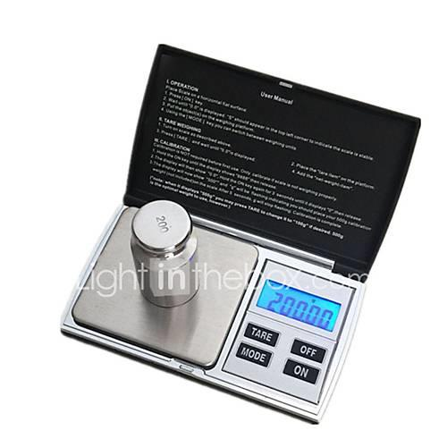 Image of 1000G/0.1G High Definition Auto Off LCD Display Digital Jewelry Scale For Office and Teaching Home life Kitchen daily