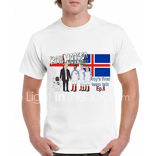 Men's T-shirt - Geometric White XL