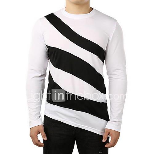 Men's T-shirt - Striped White L