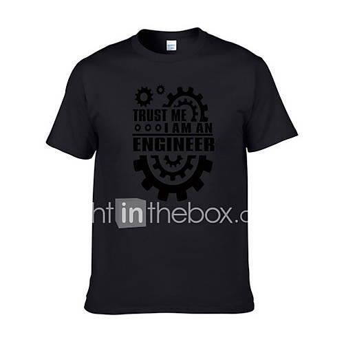 Men's T-shirt - Letter Gray L