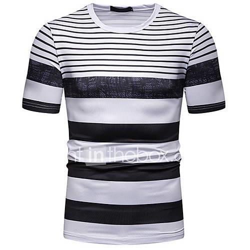 Men's T-shirt - Striped Black L