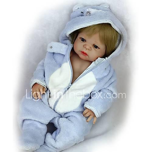 FeelWind Reborn Doll Baby Boy Baby Girl 22 inch Full Body Silicone Silicone - Cute Kids / Teen Lovely Kid's Unisex Toy Gift