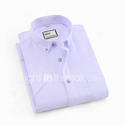Men's Shirt - Striped Gray XXL