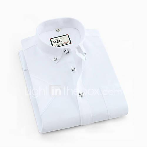 Men's Shirt - Solid Colored White XXL