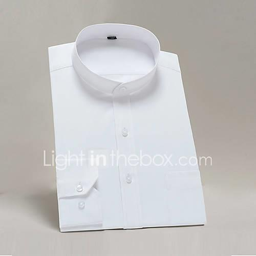 Men's Shirt - Solid Colored White 41