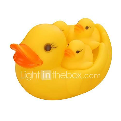 Bath Toy Duck Cute Convenient Grip Parent-Child Interaction Resin Silica Gel Child's Baby Toy Gift 4 pcs