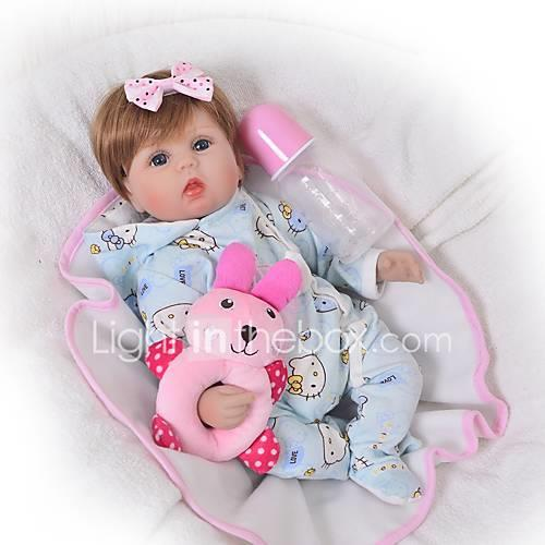 FeelWind Reborn Doll Baby Girl 18 inch Silicone - Kids / Teen Adorable Lovely Kid's Unisex Toy Gift