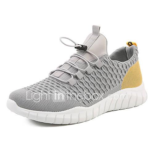 Men's Comfort Shoes Tissage Volant Spring Casual Athletic Shoes Walking Shoes Breathable White / Black / Gray