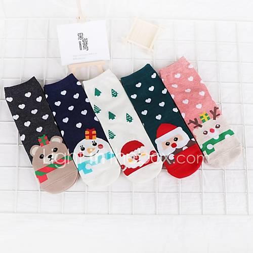 10 Pairs Women's Socks Cartoon Deodorant Cotton EU36-EU46